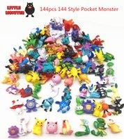 bonecas japonês figurines venda por atacado-144 pcs japonês bolso monstro figuras pokeball pikachu charizard estatueta figuras boneca muito para crianças festa de abastecimento Y190530