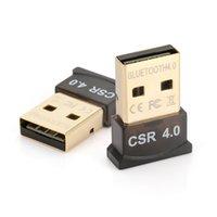 csr usb venda por atacado-CDT 1 pc Sem Fio Adaptador Bluetooth USB Bluetooth V4.0 Receptor CSR 4.0 Dongle Música Adaptador de Som Transmissor Bluetooth Para PC LAPTOP
