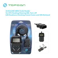 leitor de código obd2 creader venda por atacado-TOPDON ArtiLink 200 Carro Ferramenta de Diagnóstico Automotivo OBDII OBD2 Scanner Leitor de Código de Interface de Testador de Falhas para X431 Creader 3001
