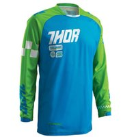 Wholesale jersey thor resale online - THOR long sleeved T shirt downhill summer bike riding long sleeved racing suit off road mountain bike clothing jersey T shirt