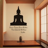 Wholesale buddha art living room resale online - Religion Buddha Pattern Wall Decal Sticker Home Decor Removable Art for Living Room Bed room Wall Art decoration