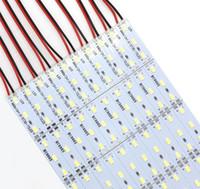 mercados de joyería al por mayor-5630 luces de tiras rígidas de SMD 72 LED 100CM LED para la lámpara de aluminio de la hoja del escaparate del contador de la joyería del mercado de la noche