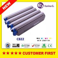 cartuchos compatibles con xerox al por mayor-Nuevo tóner de color compatible para el cartucho de tóner OKI C822 para Okidata C822, etc.