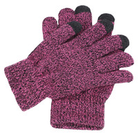 Wholesale knit mittens women for sale - Group buy New Men Women Winter Knitted Gloves Full Finger Warm Thicken Plush Lining Mittens Gloves Outdoor Sports
