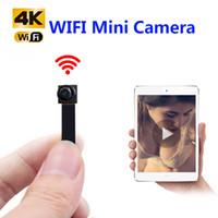 mini gizli kamera kaydedici toptan satış-HD 1080 P DIY Taşınabilir WiFi IP Mini Kamera P2P Kablosuz Mikro kamerası kamera Video Kaydedici Desteği Uzaktan Görünüm Gizli TF kart