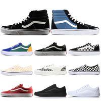 Wholesale old khaki online - Designer Vans men women Canvas Shoes Old Skool Authentic Sk8 Hi Fear of God Classic Slip on Triple White Black Skate Casual Shoes