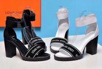 sandálias baixas sexy venda por atacado-novo Clássico Sandálias Da Senhora Verão Sandálias De Metal fivela grande tamanho us10 41 Sapatos de couro sexy de salto alto das mulheres 10 cm