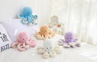 brinquedos de pelúcia dos animais marinhos venda por atacado-18 cm Criativo Bonito Octopus Plush Toys Octopus Baleia Bonecas De Pelúcia Brinquedos de Pelúcia Pequeno Pingente Animal Marinho Brinquedos para Crianças Presentes Do Bebê