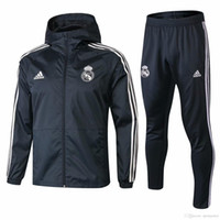 Wholesale real madrid new soccer jersey for sale - Group buy Best new hoodies Real Madrid jacket Bell windcheater tracksuits soccer jersey Isco Windbreaker Benzema Dust coat