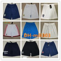 Wholesale xxl thai soccer resale online - Top thai quality psg soccer Shorts Ajax marseille football shorts Brazil Argentina Mexico national team Short Pants