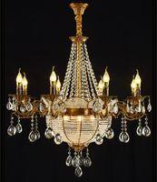 ingrosso candele di lusso-Stile europeo di lusso di fascia alta soggiorno sala da pranzo villa camera da letto nuova candela Lampadario di cristallo