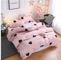 Wholesale home textiles for sale - Group buy Home Textile Bedding Sets Soft Heart Pink Duvet Cover Pillowcase Sheet Girl Teen Adult Woman Bed Linen