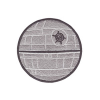 Wholesale embroidery trim patches for sale - Group buy Computer embroidery Death Star imperial space station fan craft iron on patch DIY applique