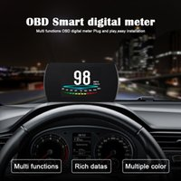 Wholesale boost board for sale - Group buy New quot HD TFT Car Hud OBD2 Head Up Display Turbo Boost Gauge RPM Tachometer On board Computer GPS Digital Speedometer in1