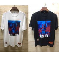 Wholesale man crowns for sale - Group buy Heron Preston T shirt Men Women h High Quality Heron Preston Top Tees New Arrived Red Crowned Crane Heron Preston T Shirts