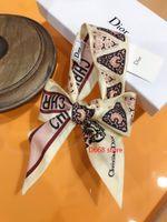 Wholesale women silk neck scarves resale online - Excelent ribbon silk scarf classic design girls neckerchief hair band bag handle wraps small neck silk scarves cm