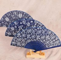 Wholesale hand fans wood for sale - Group buy Folding Fan Women s Chinese Style Tourism Souvenir Orchid Wood Fan Lace Hand Fans Spanish Dance Gift Home Decor SN3953