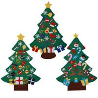 me senti bonito venda por atacado-Árvore de Natal bonito Ornaments Poder Felt Árvore de Natal bonita Porta Wall Hanging presentes DIY Decoração Crianças GM