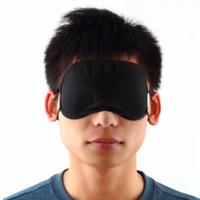 lunettes de sommeil achat en gros de-Masque Bamboo Eye Shade Cover Sleeping Rest Eyemask Voyage Dormir Lunettes de repos Outils de couverture de l'ombre des yeux pour les hommes femmes RRA1793