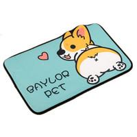 Wholesale dog floor mats resale online - Soft Pet Dog Floor Mat Anti Slip Living Room Bathroom Doormat Outdoor Indoor Welcome Mat Cute Cartoon Kitchen Carpet Rugs