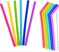 Wholesale Silicone Drinking Straws Drink Tools Reusable Eco Friendly Colorful Silicon Straw For Home Bar Accessories