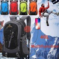 Wholesale 40L Outdoor Sports Travel Mountaineering Ski Waterproof Nylon Multi function USB Charging Man Women Fashion Backpack