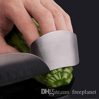 Wholesale knife kitchen finger guard for sale - Group buy XU0318 Stainless Steel Finger Hand Protector Guard Personalized Design Chop Safe Slice Knife Kitchen Cooking Tools