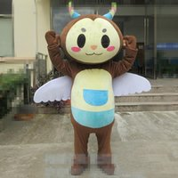 Wholesale insects music for sale - Group buy 2018 High quality Adult size Cartoon Insect Beetle Mascot Costume Halloween Christmas Brown Beetle Carnival Dress Full Body Props Outfit Mas