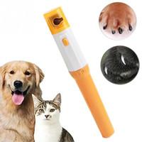 herramientas de aseo de perro eléctrico al por mayor-Clipper de uñas para mascotas Pedi Pet Dogs Cats Paw Nail Trimmer Cut Herramientas de aseo de pulido eléctrico WX9-1235