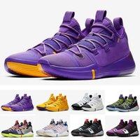 sapatos roxos online venda por atacado-Hot Kobe AD Lakers sapatos de ouro roxo para vendas frete grátis 2019 Online sports Kids basquete sapatos loja