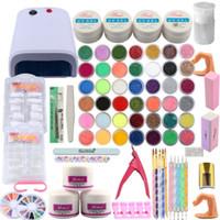 Wholesale nail art kit for sale - Nail Kit Manicure Pedicure Tools Set W UV Lamp Nail Set UV Gel Art Tools Acrylic Powder Extension Kits