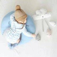 kissen puppe stoff großhandel-Cartoon 40/80 cm Große Plüsch Mond Spielzeug Kinder Schlafen Rückenkissen Gefüllte Kissen Mond Puppe Baby Puppe Geburtstagsgeschenk für Kinder
