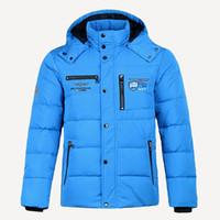 ingrosso mens blu inverno parka-Winter Jacket Mens qualità termica spesso strato di neve blu parka maschile Warm Outwear modo degli uomini grigio anatra piumino m-3XL