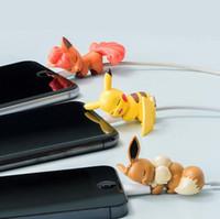 bit aksesuarları toptan satış-20 adet Uyku Hayvan Bite USB Telefon Şarj Veri Koruma Kapak Mini Tel Koruyucu Kablo Kordon Telefon Aksesuarları için iPhone
