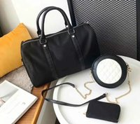 erkek cüzdan boyutu toptan satış-Yüksek kaliteli son üç parçalı moda kadın çanta, cüzdan, sırt çantası, moda tasarımcısı çanta markası, erkek ve kadın çantası boyutu