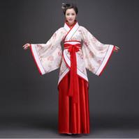 ingrosso donne costumi tradizionali cinesi-Vestito da ballo di scena della donna Costumi tradizionali cinesi Capodanno Tang Suit Performance Hanfu Female Cheongsam