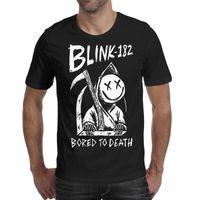 dessins t-shirt punk achat en gros de-Les hommes conçoivent l'impression Blink 182 ennuyé à mort Punk rock design noir t-shirt personnalisé cool designer bande chemises génial t shirt sport