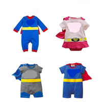 Wholesale cute toddlers onesie for sale - Group buy Baby Cloak hero Romper set for infants boys girls T Toddlers cute caped Onesie cartoon patterns clothing Party Birthday costume