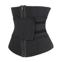Wholesale belly support resale online - Women Sports Waist Support Neoprene Body Corsets Waist Trainer Compression Corset Belly Control Abdominal Belt