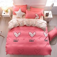 Wholesale pink brown balloons for sale - Group buy Love Balloon Bedding Set For Girls Romantic Sweet Pink Duvet Cover King Size Queen Single Full Twin Soft Bed Cover with Pillowcase