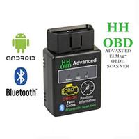 ingrosso diagnosi avanzato-Mini ELM327 V2.1 Bluetooth HH OBD OBDII Avanzata OBD2 ELM 327 Auto Scanner Diagnostico Auto lettore di codice scanner strumento blu vendita calda