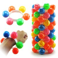 anillos de manos para niña al por mayor-Niños mano y pie campanas colorido anillo de la campana de la danza del juguete de juguete jardín de infantes ajustable juguetes niños niñas 0 63lh O1
