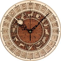 Wholesale venice decor resale online - Venice Astronomy Astrology Art Record D Wall Clock Vintage Hanging Time Clock Modern Design Wall Art Decor