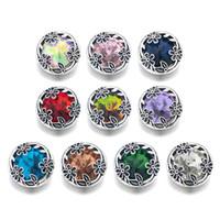 Wholesale w123 Flower 3D 18mm 25mm 30mm Metal Snap Button For Bracelet Necklace Interchangeable Jewelry Women Accessorie Findings