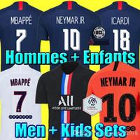 Wholesale kids soccer jersey sets for sale - Group buy Maillots de football kits PSG soccer jerseys MBAPPE ICARDI MARQUINHOS th shirt men kids sets maillot de foot Camisa Fourth
