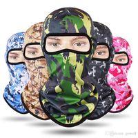 militärische taktische masken großhandel-Breathful 14 Styles CAMO Gesichtsmaske CS Tactical Bike Fahrrad Masken Radfahren Ski Sport Stirnband Military Schal Mützen Caps