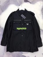 ingrosso giacche cargo nere-high end donna ragazza bomber cargo nero giacche con zip collo risvolto maniche lunghe camicetta camicie parigi moda design capispalla lusso top