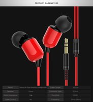 Wholesale design headset iphone resale online - 2019 New Design Monitor Earphone Headphones with M cable Microphone optional