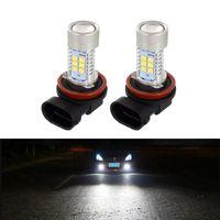Wholesale high power fog lights for sale - Group buy 2x Car Front Fog Light Bulbs DRL LED H8 H9 H11 W V SMD LED K High Power Fog Lamp Daytime Running Light