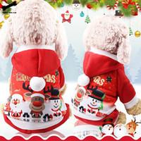 bonito cão casacos inverno venda por atacado-Teste padrão do revestimento roupa do cão Natal Red Clothes Dog Pet Dog Natal Inverno Árvore Brasão bonito Outono-Inverno 28